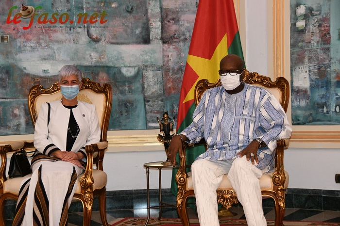 Système des nations unies au Burkina: La coordonnatrice Barbara Manzi chez Roch Kaboré