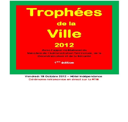 Trophées de la Ville 2012: Communiqué de presse N°01