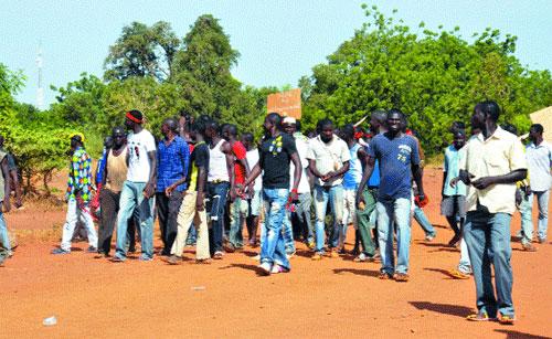 Commune rurale de Saaba:  Un groupe de jeunes s'oppose à un cross populaire
