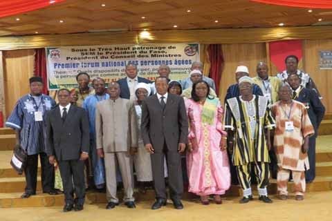 Le président du Faso face aux  personnes âgées: le rendez-vous du donner et du recevoir