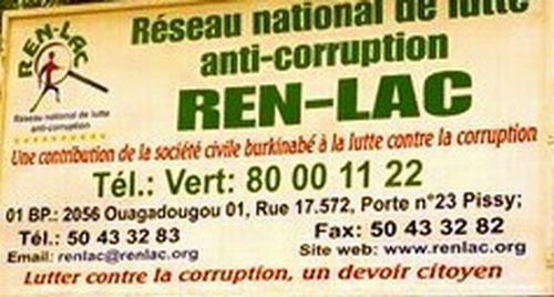 Le REN-LAC lance le sondage 2012 sur l'état de la corruption au Burkina Faso