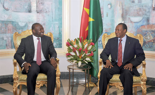 Le Burkinabè Lassina ZERBO reconnaissant au Président du Faso pour son soutien à son élection à la tête de l'OTICE