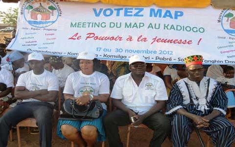 Meeting d'ouverture du MAP au Kadiogo: le pouvoir par les jeunes et pour les jeunes