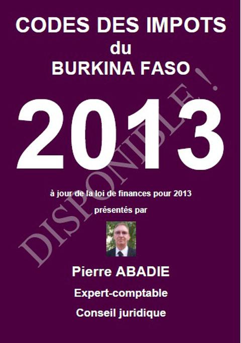 le nouveau CODE DES IMPOTS 2013 est disponible
