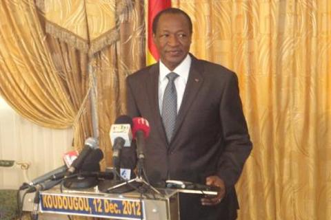Blaise Compaoré: «La démission du Premier ministre malien ne doit pas nous poser des difficultés particulières dans la médiation»