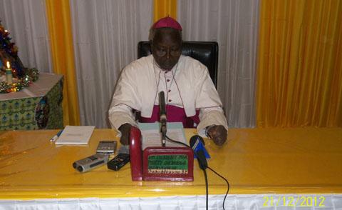 Fêtes de fin d'année: les vœux de Monseigneur Philippe Ouédraogo
