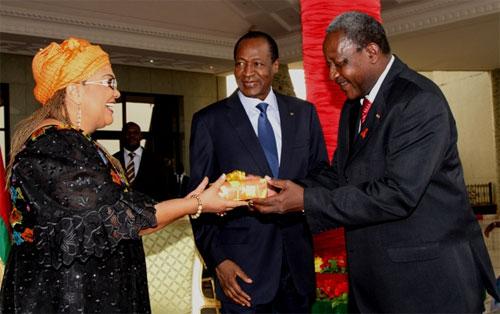 Le personnel de la Présidence du Faso présente ses vœux de nouvel an au chef de l'Etat