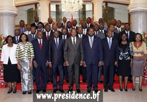 Le Président du Faso aux membres du nouveau gouvernement: «… s'impliquer collectivement dans l'action gouvernementale»