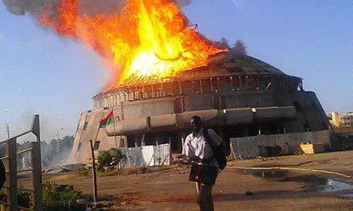 Siège du Fespaco: La salle polyvalente ravagée par les flammes