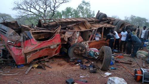 Accident de la circulation: Neuf morts et de nombreux blessés à Darsalami