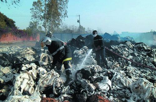 Filature du Sahel: Un incendie qui a mobilise les soldats du feu