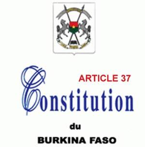 Article 37 de la constitution:  Le pouvoir ne s'avoue pas vaincu…