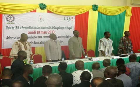 Université de Ouagadougou: Une visite sous haute tension pour le Premier ministre Tiao