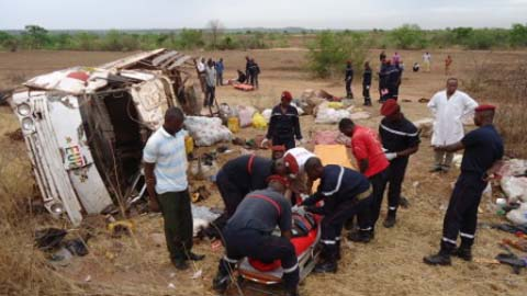 Accident de la circulation: Deux morts, de nombreux blessés graves à Banakélédaga