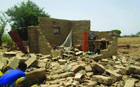 ORAGE À MANGA: Un décès et d'énormes dégâts matériels enregistrés