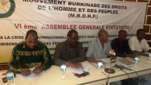 Situation des droits de l'homme et de la démocratie au Burkina: le MBDHP et 5 autres organisations de la société civile s'inquiètent