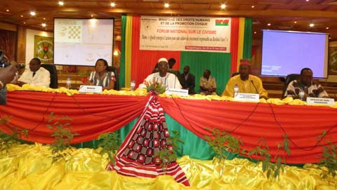 Forum national sur le civisme : Le diagnostic  de l'incivisme au Burkina