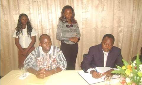 Promotion des écoles d'hôtellerie et de restauration au Burkina: Baba Hama en visite de courtoisie au CFP-Valba