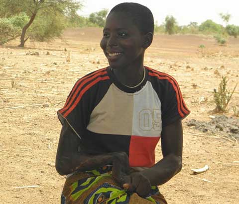 Djénéba Sawadogo, handicapée et  pas moins heureuse