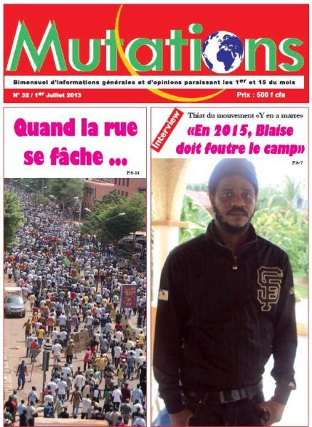 Le journal Mutations N°32  du 1er juillet 2013 est dans les kiosques.