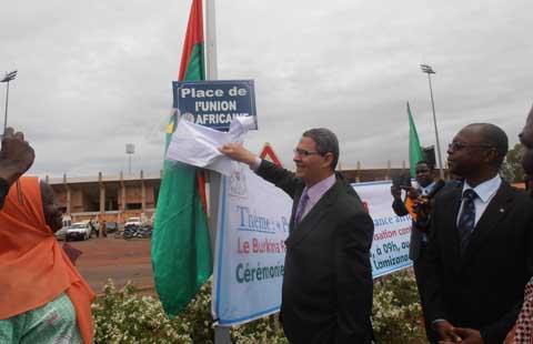 Cinquantenaire de l'OUA-UA: À Bobo-Dioulasso, le Burkina donne une Place à l'Union Africaine