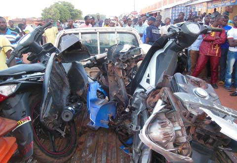 Accident en pleine ville de Bobo : En tentant de fuir, il commet d'autres accidents