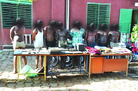 Insécurité: Une bande de huit personnes aux arrêts