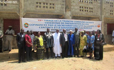 Enseignement secondaire: les loteries nationales offrent un établissement à Dori