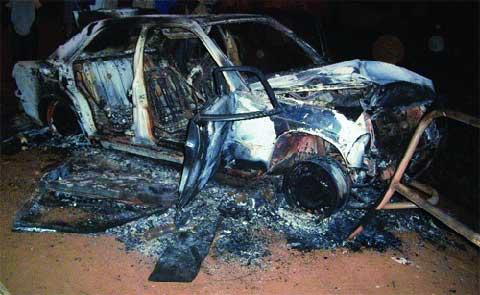 Accident de la circulation à Ouagadougou: Un mort, trois blessés et un véhicule incendié à Tanghin