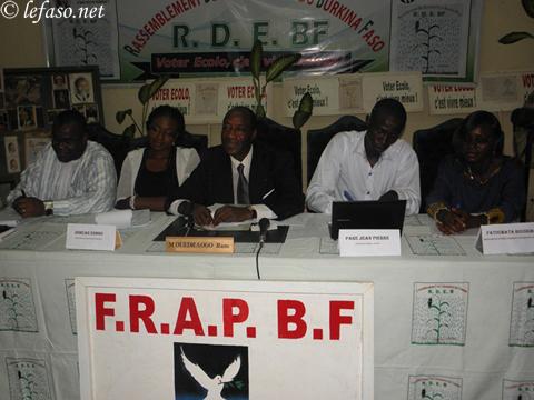 Front républicain pour une alternance pacifique (FRAPBF): Une idée du  RDEBF soucieux de la préservation de la paix