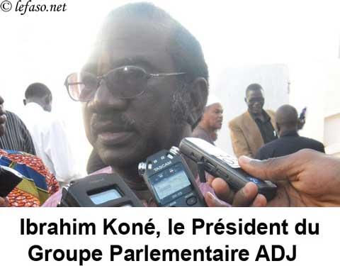 Journées parlementaires ADJ: «Un fantôme hante la quiétude et la paix sociale au Burkina c'est bel et bien le sénat» dixit Ibrahim Koné