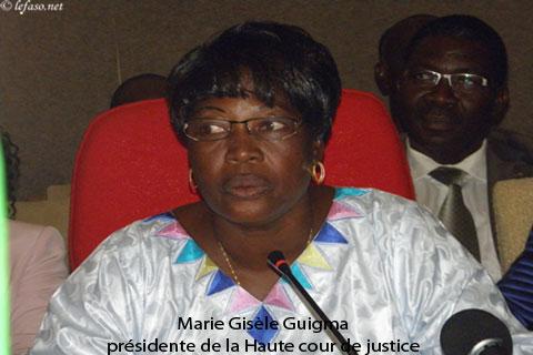 Haute cour de justice: Marie Gisèle Guigma aux commandes