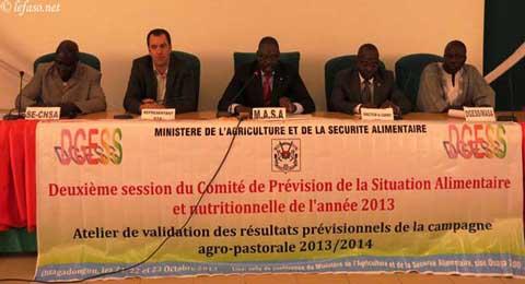 Campagne agricole 2013-2014: Le comité de prévision fait le point de la situation alimentaire et nutritionnelle