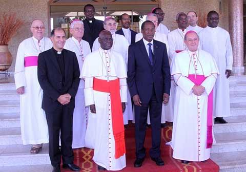 Une délégation du Saint-Siège chez le Président du Faso...
