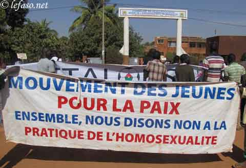 Soutien aux homosexuels:  Le Mouvement des jeunes pour la paix (MJP) dit non