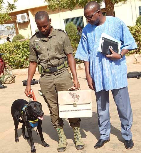 Lutte contre les stupéfiants: la douane burkinabè s'imprègne de l'expérience d'une équipe Cynophile sénégalaise.