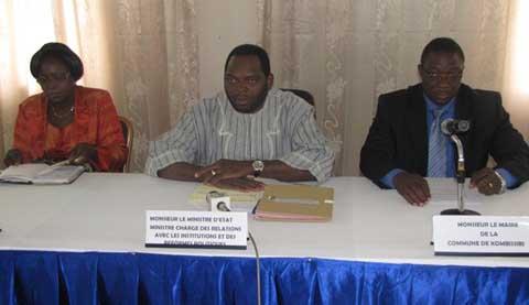 Réformes politiques: Des avant-projets de loi en préparation à Kombissiri