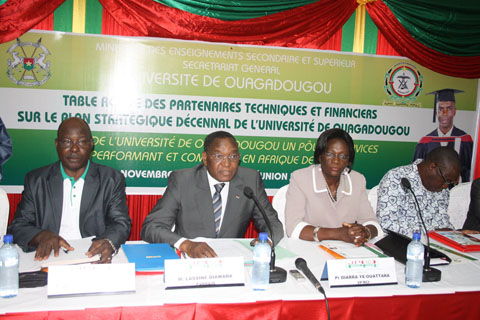 Université de Ouagadougou: Echanges avec les partenaires autour du plan stratégique décennal