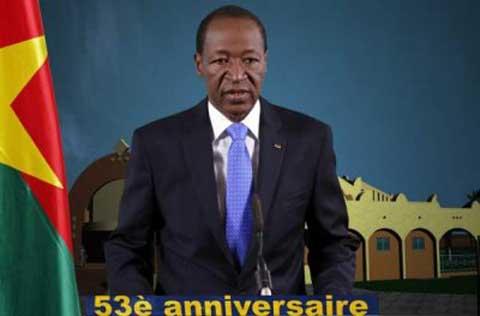 Discours du Président du Faso à l'occasion de la 53e fête de l'Indépendance