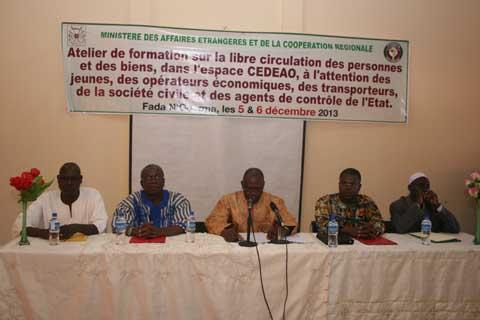 Libre circulation des personnes et des biens: Le Ministère des Affaires étrangères  sensibilise  à Fada