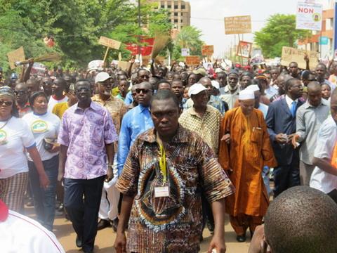 Marche-meeting du 18 janvier 2014: Les consignes du Chef de file de l'Opposition