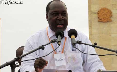 Marche meeting du 18 janvier: Discours de Zéphirin Diabré, Chef de file de l'Opposition