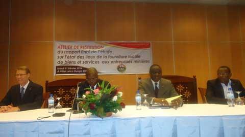 Secteur minier au Burkina: La fourniture locale des biens et services au centre d'un atelier