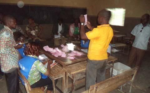 Résultats provisoires des municipales partielles à Soubakanièdougou: Le CDP en tête, suivi de l'UPC et du RDB