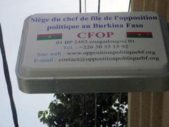 Rapport de la commission ad hoc sur le statut du personnel officiant au siège du chef de file de l'opposition politique au Burkina Faso (CFOP-BF)