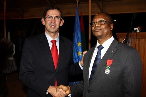 Distinction: Soungalo Ouattara Chevalier de la Légion d'Honneur