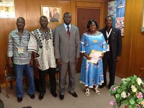MASA 2014: Les représentants burkinabè chez l'ambassadeur Justin  Koutaba
