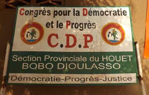 Bobo: Le grand meeting du CDP et F.R n'aura pas lieu ce 15 mars