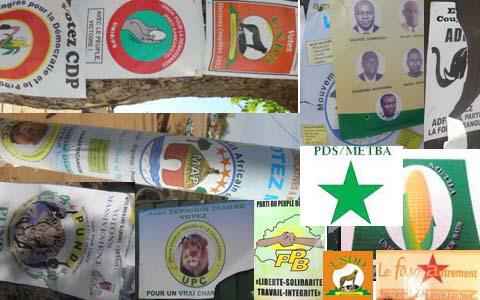 Carte administrative des partis: 97 formations politiques enregistrées au MATS dont 71 de l'opposition et 26 de la majorité