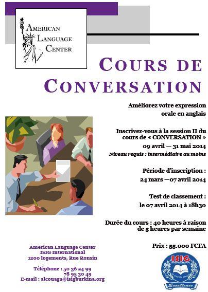COURS DE CONVERSATION: Améliorez votre expression  orale en anglais
